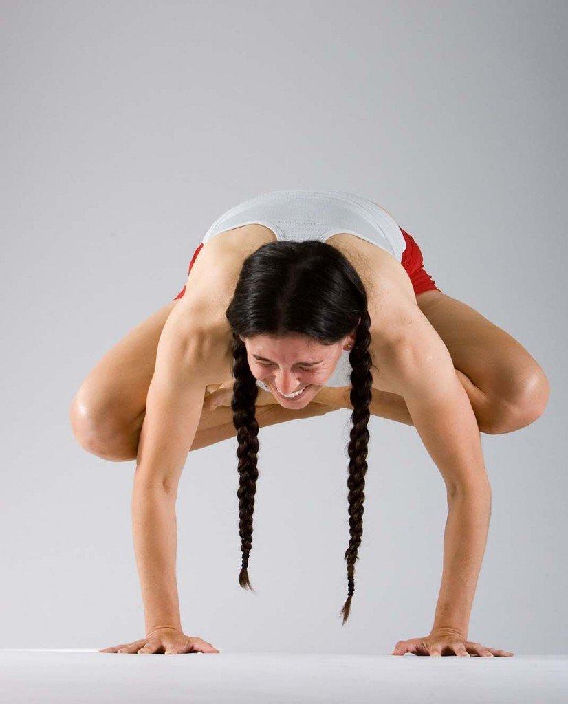 Yoga Arm Balance Full Lotus In Crow Urdhva Kukutasana